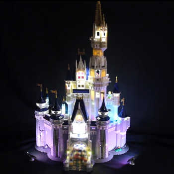 Led Light For Lego 71040 Creative City Cinderella Princess Castle Compatible 16008 Building Blocks Toys (only light+Battery box) - DISCOUNT ITEM  0% OFF All Category