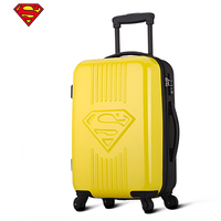 Kid Superman Rolling Luggage,Child Suitcase bag Carry on with Wheels,2024inch Lockbox,High capacity Plastic Travel Box