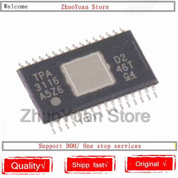 1PCS/lot New Original TPA3116D2DADR HTSSOP32 TPA3116D2 HTSSOP-32 TPA3116 IC Chip