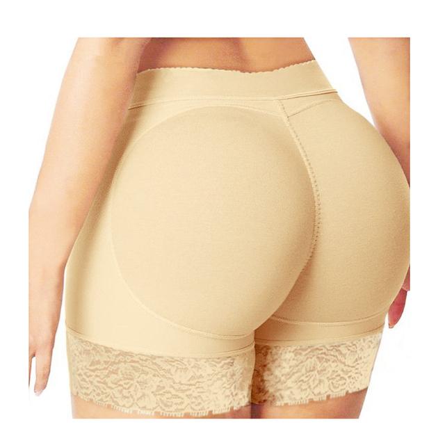 6651beae2a168 Sexy Boyshort Woman Fake Ass Padded Panties Women Body Shaper Butt Lifter  Hip Enhancer Seamless Panties