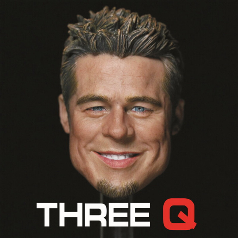 1/6 scale figure doll head shape for 12 action figure doll accessories Fight Club Brad Pitt smile head male Head carved 1 6 scale figure doll head shape for 12 action figure doll accessories iron man 2 whiplash mickey rourke male head carved