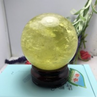 large iceland crystal ball iceland sphere AAA++ NATURAL YELLOW Optical Calcite ball