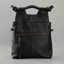 Vintage Style Women's Handbag Genuine Leather Tote Shoulder Handbag Satchel Vertical Female Bag Cow Leather Lady Purses 2016 New