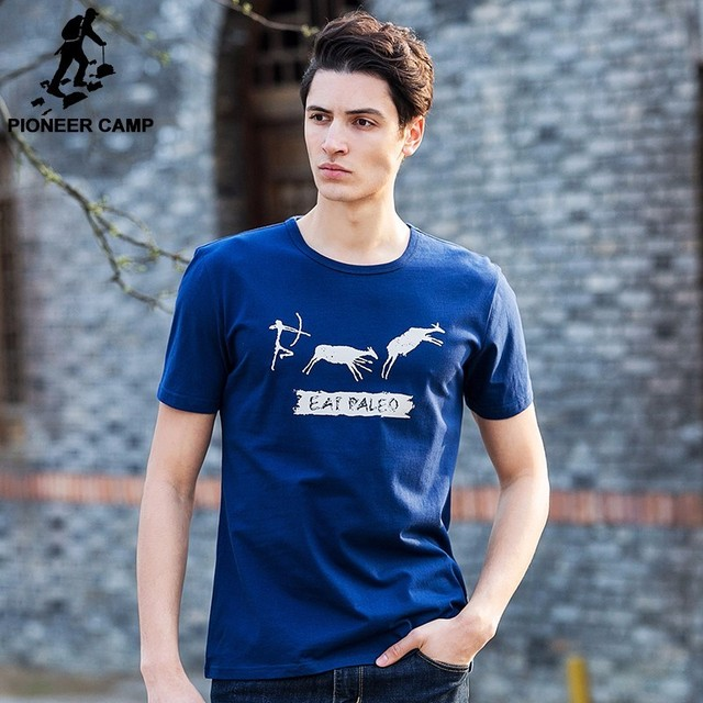 Pioneer Camp Men T Shirt New 2017 Cotton Simple Print: Aliexpress.com : Buy Pioneer Camp Free Shipping 2017 New