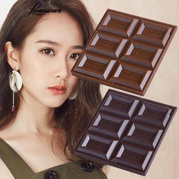 1 Pcs New Foldable Lovely Mini Makeup Mirror Chocolate Cookie Shaped Square Pocket Mirror Glass For Women Girl MGZ1425