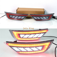 July King White LED Reversing Light + Red Light Guide LED Brake Lights + Red Night DRL Case for Ford EcoSport 2013 2020