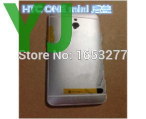 Replacement parts Back Battery Cover Rear Housing Door Case with logo For HTC One mini silver