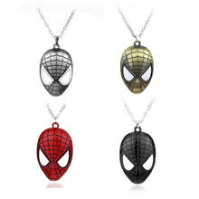 Movie Accessories 2019 New Spider-Man Mask Fashion Jewelry Pendant 4 Color Magic Spider-Man Mask Necklace Men's Necklace Pendant swd spider perch 100 0 4 13 25