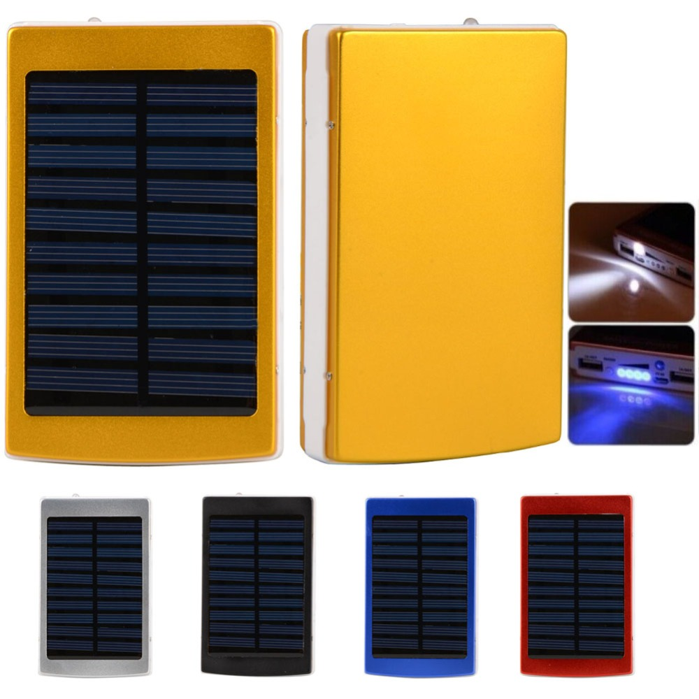 Actual Full Capacity 10000mAh Dual USB Portable Solar Battery Charger Power Bank For Cell Phone Mobile VA558 T19 0.4
