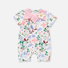 Summer Newborn Romper Short Sleeve Cotton Baby Jumpsuit Onesie Baby 0-18 Months