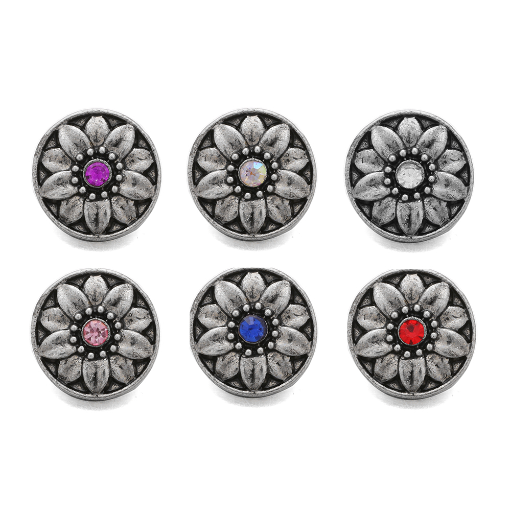 10pcs/lot Fashion Rhinestone Flower <font><b>12mm</b></font> <font><b>snaps</b></font> <font><b>buttons</b></font> <font><b>snaps</b></font> <font><b>jewelry</b></font> Fit <font><b>12mm</b></font> <font><b>Snap</b></font> <font><b>Button</b></font> Bracelets For Women image