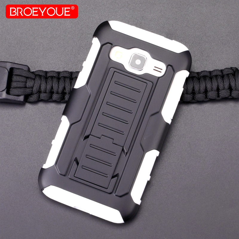 BROEYOUE Armor Impact Holster <font><b>Case</b></font> For <font><b>Samsung</b></font> <font><b>Galaxy</b></font> <font><b>Core</b></font> <font><b>Prime</b></font> G360H G361H SM-G360H SM-G361H <font><b>G360</b></font> Shockproof Phone <font><b>Cases</b></font> Bags image