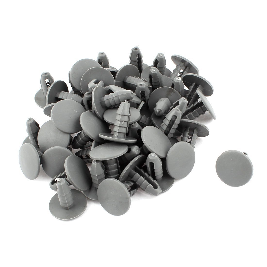 AUTO -Car Auto 8x7mm Hole Door Bumper Plastic Gray Hitch 50 pieces