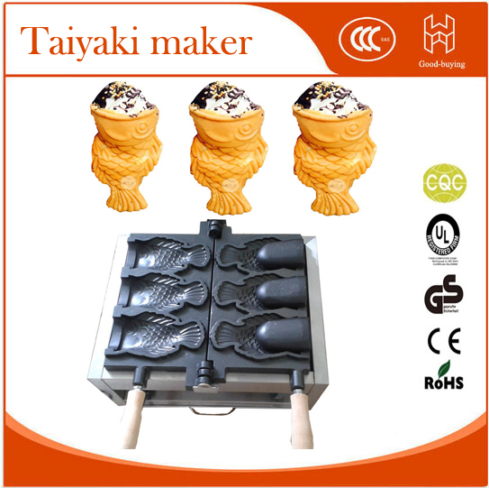 Freeshipping waffle add fruit chocolate Ice Cream big month Taiyaki maker machine