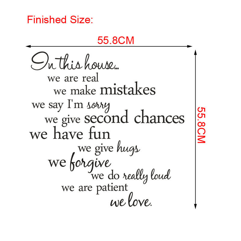HTB1wo4DQpXXXXbPXVXXq6xXFXXXr - In this house we are real Quote Wall Sticker-Free Shipping