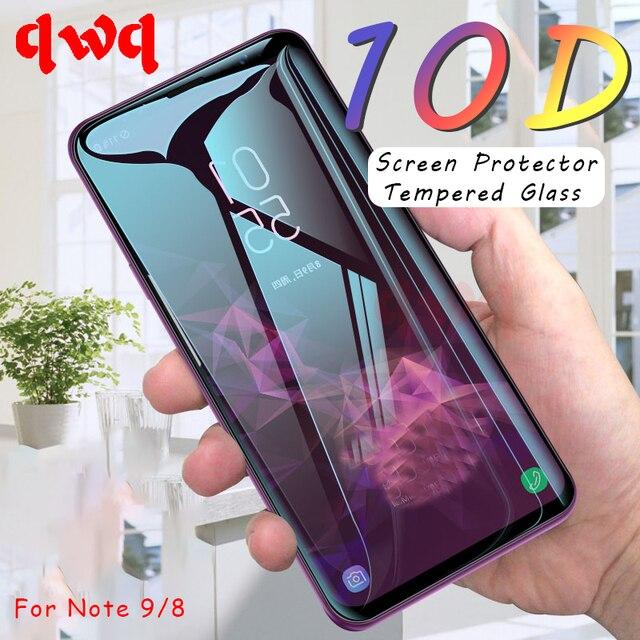 10D Curvo Borda Protetor de Tela Para Samsung Galaxy S9 S8 Plus S7 8 Completa Tampa de Vidro Temperado Para Galaxy Note 9 Vidro De proteção