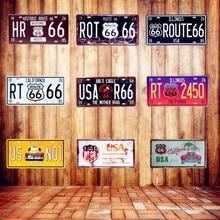 Route 66 Bar Decor Sign