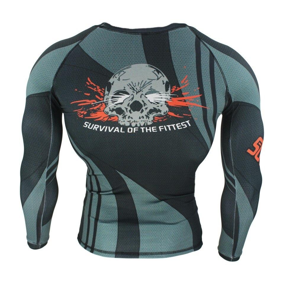 SOTF MMA Skull Lines Wear Fitness Fighter Fighting Breathable Sweatshirt Boxing jerseys tiger muay thai mma boxing suit jaco mma