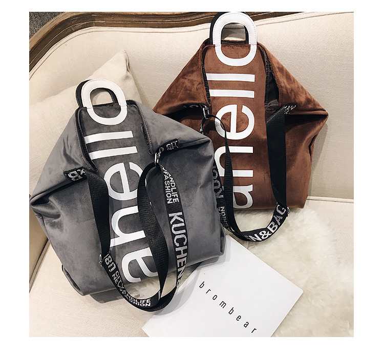 HTB1wo4OXynrK1Rjy1Xcq6yeDVXao - New Large-capacity Velvet Handbag Fashion Lady Letter Shoulder Crossbody Bag High Quality Women's Shopping Bag Tote