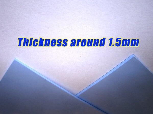 Комбинированная Акция! 2x100*100*1,5 мм Силиконовые термопрокладки для светодиодный набор микросхем IC VRAM радиатор охлаждения Теплопроводящий синий