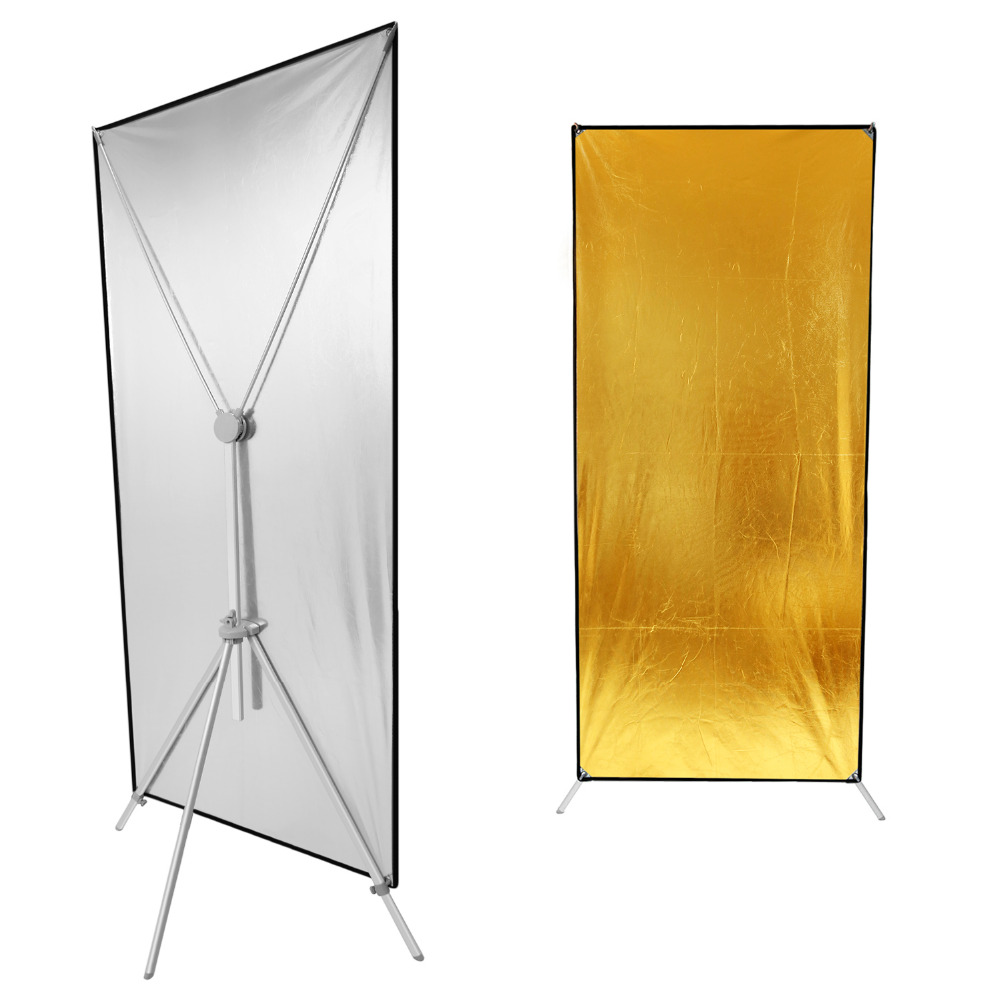 Neewer Photo Studio Gold/Silver Flat Panel Reflector 35X71 Inches/89X180 Centimeters Lighting Reflector For Professional Photo