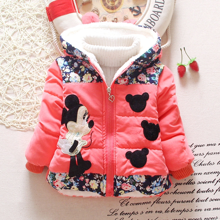 b5ea59749 Hot Sale 2015 Winter Baby Girls Coats Kids Minnie Jackets Fashion Hooded  Children Outdoor Parka Warm Flowers Cotton padded Coats-in Jackets & Coats  from ...