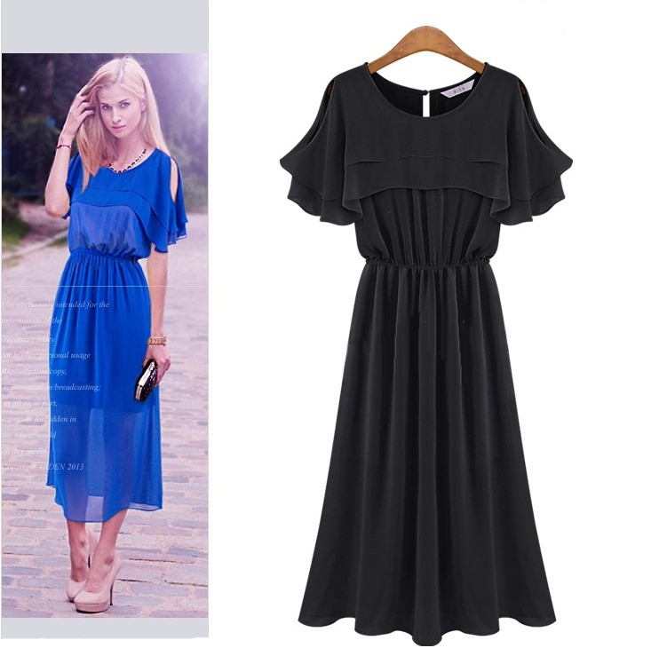 2015 spring new fashion style dress latest designs slim noble long dress o neck sloid spring