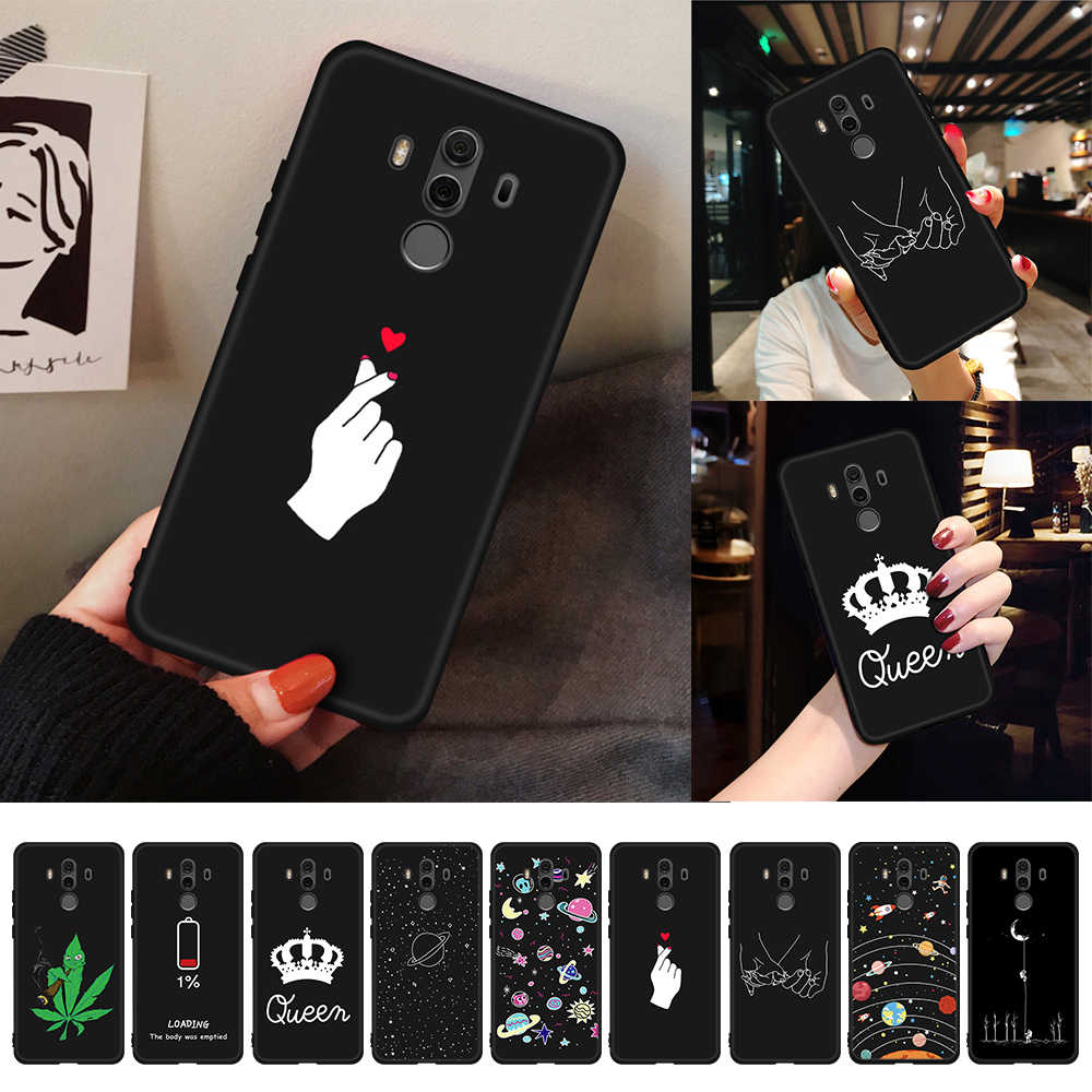 For Honor 8X Max Case Love Heart Painted TPU Cover For Huawei Honor 10 9 8 Lite 8C 6C Pro V20 V9 Play Note 10 Magic 2 Fundas