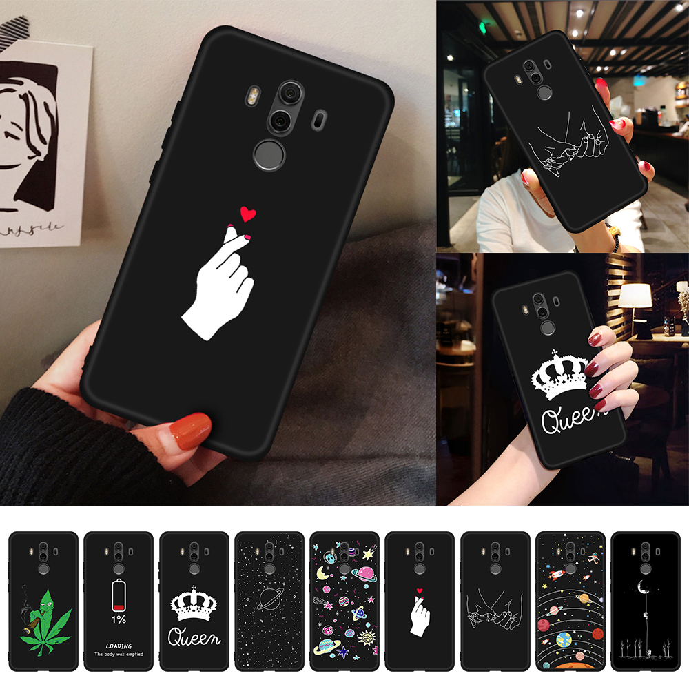 For Honor 8X Max Case Love Heart Painted TPU Cover For Huawei Honor 10 9 8 Lite 8C 6C Pro V20 V9 Play Note 10 Magic 2 Fundas(China)