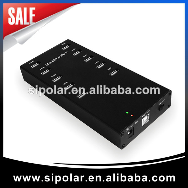 Sipolar high speed usb 2.0 10 port hub for samsung galaxy tab in USB charging Hubs industrial usb hub 16 port usb 2 0 hub supply from sipolar