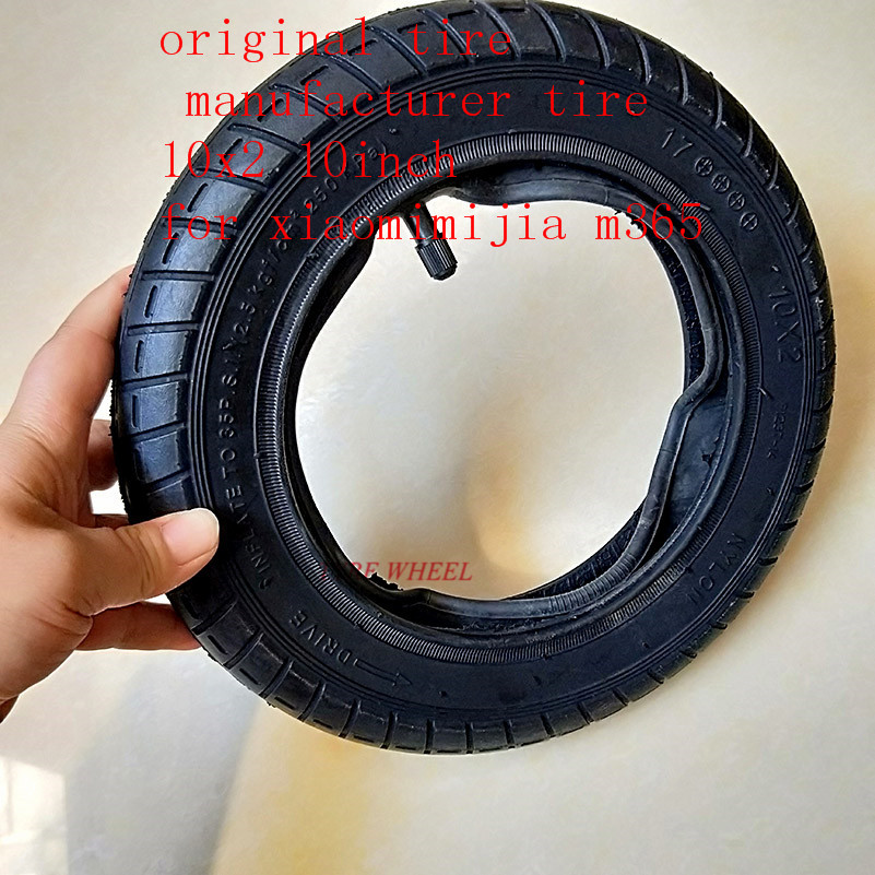 Rear Tire Wheel Hub Tyre Set Replacement Parts Explosion-Proof Tire Rear Wheel Disc Brake Disc Installation Combination for Mijia M365 Electric Scooter