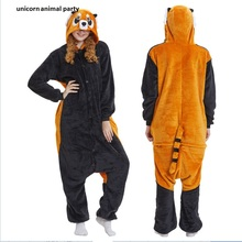 Women Men Pyjamas Halloween Kigurums Adult Onesie Raccoon Pajamas Coon Sleepsuit Cosplay Unisex Anime Sleepwear Costume
