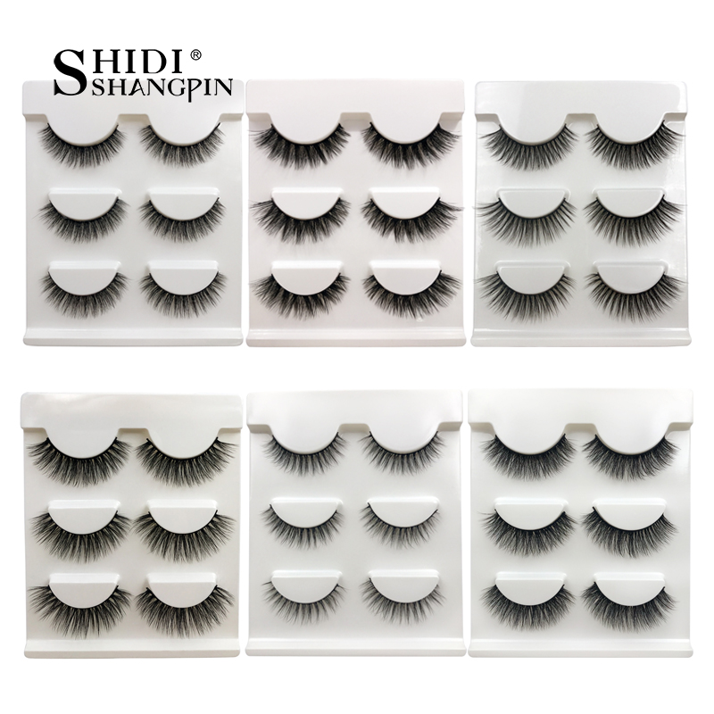8abb99fab45 SHIDISHANGPIN 3 pairs eyelashes 3d mink hair ashes mink eyelashes strip 3d  eyelashes natural long lashes faux cils false eyelash-in False Eyelashes  from ...