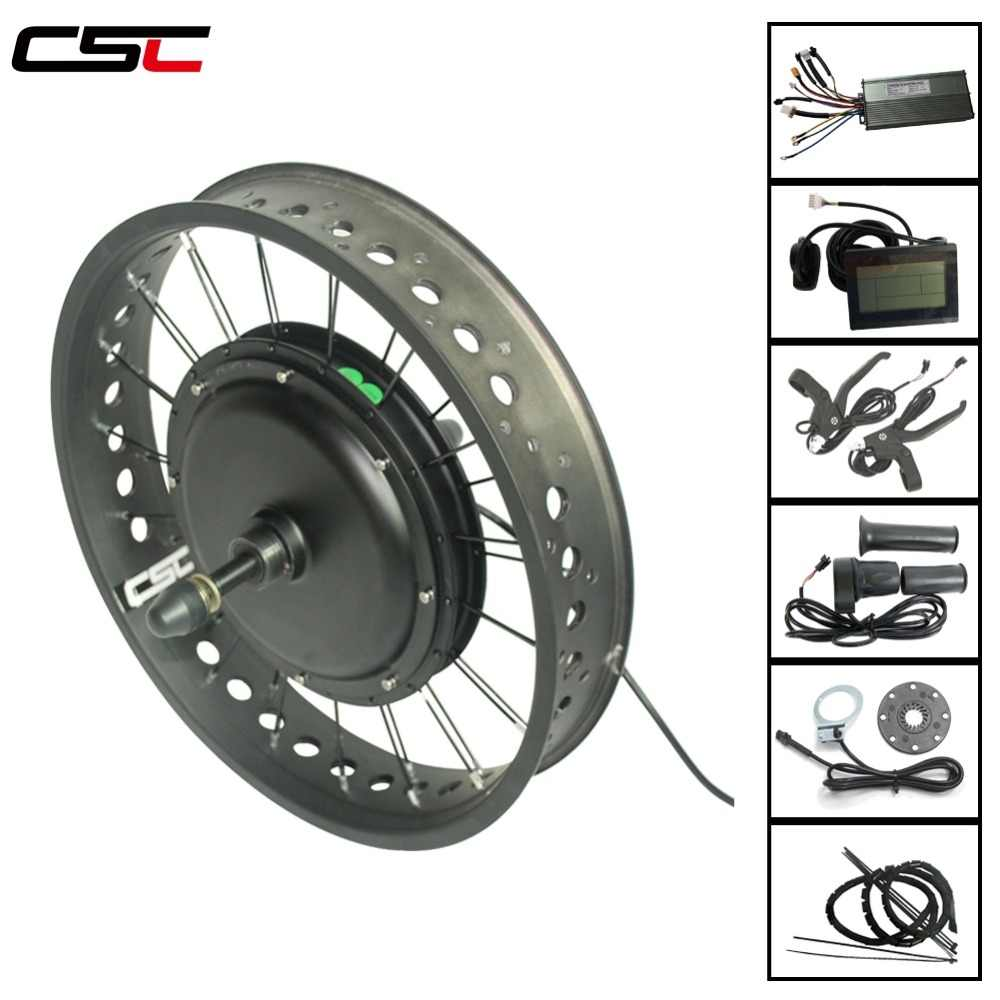 Electric snow bicycle Conversion Kit 20 24 26 inch 4.0 Tyre 48v 500W Fat bike motor front or rear wheel 4 color for ebike