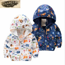 2 To 5 Years Old Child Cute Dinosaur Spring and Autumn Boys and Gilr Jacket Jacket Coat Children's Windbreaker Baby Clothing(China)