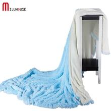 Фотография New Soft Winter Warm Velvet Mink Blanket Coral Sherpa Blankets Travel Sofa Solid Color Fleece Blankets For Bed 200*230/220*240cm