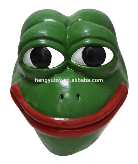 Pepe The Frog Latex Mask 4chan Kekistan Hallowen Meme Costume