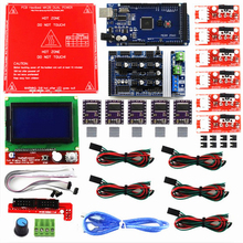 Reprap Ramps 1.6 Kit with Mega 2560 r3 + Heatbed MK2B + 12864 LCD Controller + DRV8825 +Mechanical Switch +Cables for 3D Printer