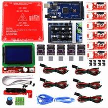 Комплект Reprap Ramps 1,6 с Mega 2560 r3 + Heatbed MK2B + 12864 ЖК контроллер + DRV8825 + механический переключатель + кабели для 3D принтера