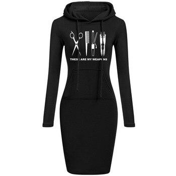 Φόρεμα Γυναικείο Με κουκούλα μακρυμάνικο Βαμβακερό