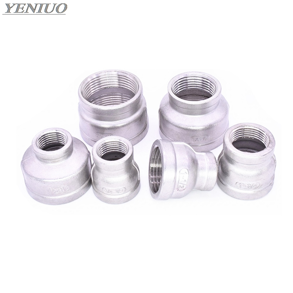 """1/8"""" 1/4"""" 3/8"""" 1/2"""" 3/4"""" 1"""" 1-1/4"""" 1-1/2"""" BSP Female To Female Thread Reducer 304 Stainless Steel Pipe Fitting Connector Adpater"""