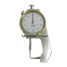 Dial Thickness Gauge Curved Tip 0-10mm/0.1mm For Hollow Pipe Or Circular Tube Caliper Gauge Measuring Tools