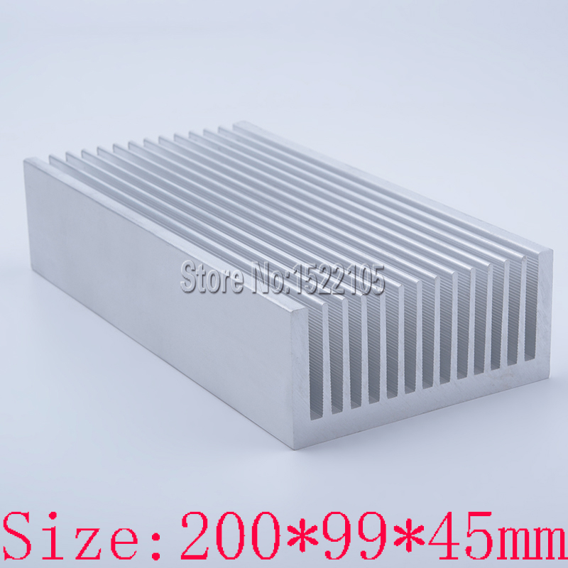 Heatsink 200x99x45mm power amplifier Aluminum heatsink heat sink high power radiator for cooling ноутбук apple macbook air mjvp2ru a 11 6 core i5 1 6ghz 4gb 256gb ssd hd graphics 6000