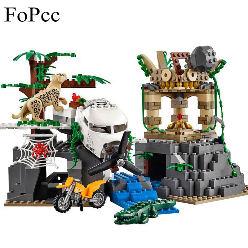 02061 City Series Exploration of Jungle Building Blocks Set 60161 Educational Toys For Children Christmas Gift Legoings lepin 02061 genuine city series the jungle exploration site set 60161 building blocks bricks christmas gift for children 870pcs