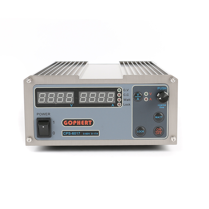 CPS-6017 Adjustable Digital DC Power Supply 60V 17A OVP/OCP/OTP High Power Compact Power Supply 220V 1 pc cps 3220 precision compact digital adjustable dc power supply ovp ocp otp low power 32v20a 220v 0 01v 0 01a