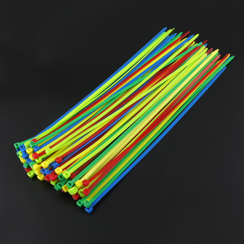 12inch Colorful Plastic Cable Ties 100Pcs pack Wire Zip Tie High Quality Tie for wire straps mixed color strong nylon fastener in Cable Ties from Home Improvement