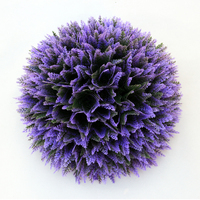 ULAND Outdoor Indoor Artificial BOXWOOD Ball Graa Kissing Ball Hanging Topiary 48cm Outer Diameter UV Proof Wedding Decoration
