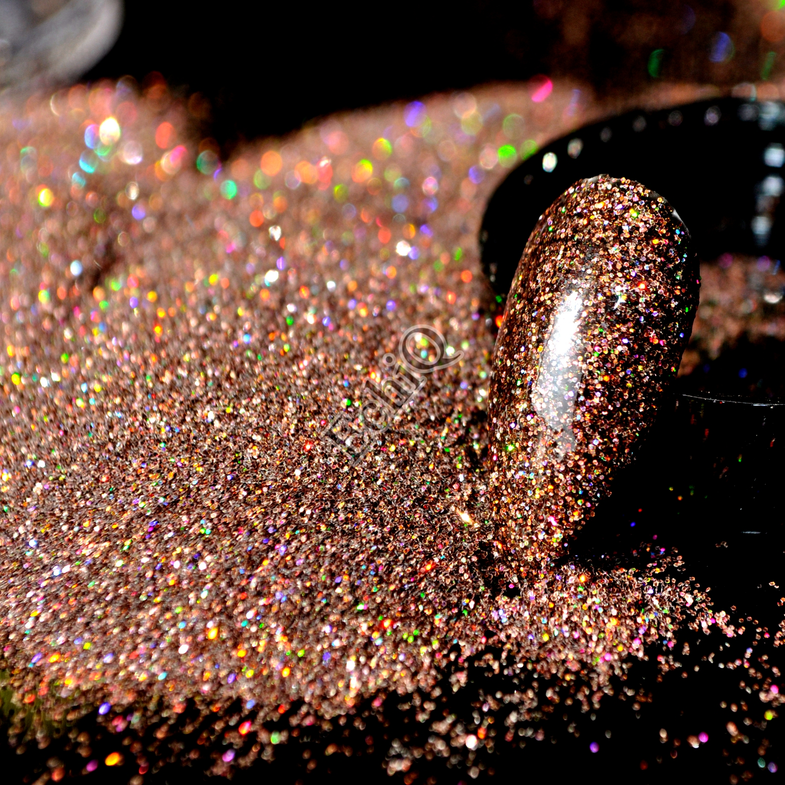1 Jar 0.2mm Shiny Holographic Nail Glitter Powder Colorful Laser Coffee Dark Brown Glitter DIY UV Nail Art Dust Pigment N57 bison rolling grill
