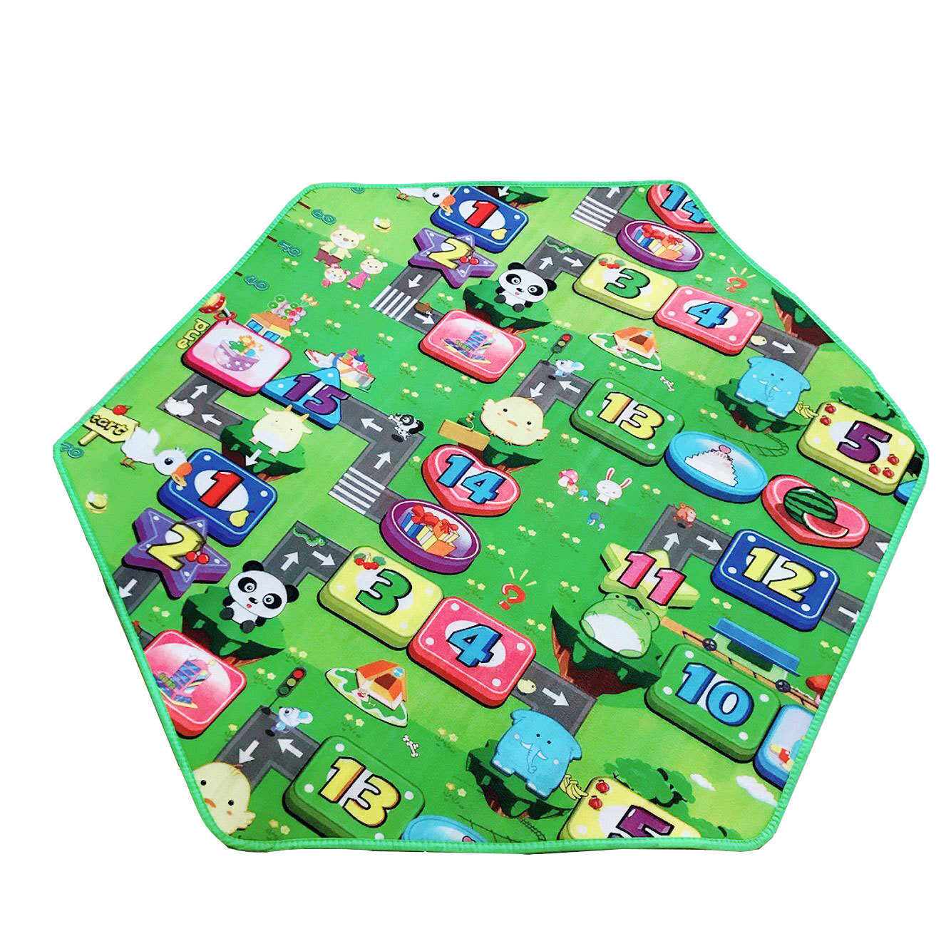 Baby Cartoon Model Play Game Mat Children Crawling Puzzle Living Room Rug Toys Outdoor Picnic Portable Kids Cushion Toy