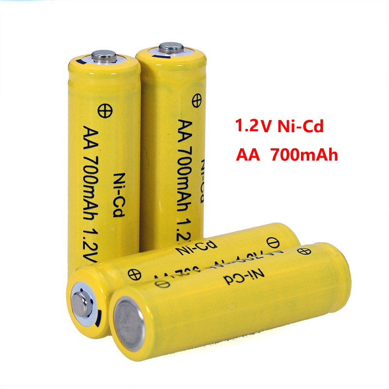 <font><b>1.2v</b></font> NI-CD <font><b>AA</b></font> <font><b>Batteries</b></font> 700mAh Rechargeable <font><b>nicd</b></font> <font><b>Battery</b></font> <font><b>1.2V</b></font> Ni-Cd <font><b>aa</b></font> For Electric remote Control car Toy RC ues image